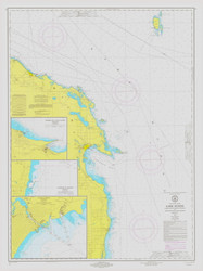 Harrisville to Forty Mile Point 1973 Lake Huron Harbor Chart Reprint 53