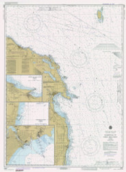 Harrisville to Forty Mile Point 1982 Lake Huron Harbor Chart Reprint 53