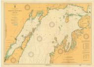 North End of Lake Michigan 1924 Lake Michigan Harbor Chart Reprint 70