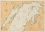 North End of Lake Michigan 1930 Lake Michigan Harbor Chart Reprint 70