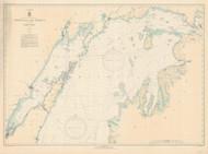 North End of Lake Michigan 1935 Lake Michigan Harbor Chart Reprint 70
