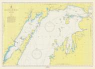 North End of Lake Michigan 1950 Lake Michigan Harbor Chart Reprint 70