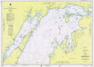 North End of Lake Michigan 1975 Lake Michigan Harbor Chart Reprint 70