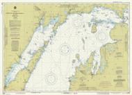 North End of Lake Michigan 1981 Lake Michigan Harbor Chart Reprint 70