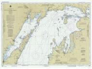 North End of Lake Michigan 1987 Lake Michigan Harbor Chart Reprint 70