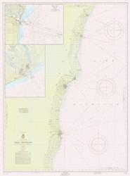 Algoma to Sheboygan 1957 Lake Michigan Harbor Chart Reprint 73