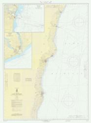 Algoma to Sheboygan 1966 Lake Michigan Harbor Chart Reprint 73