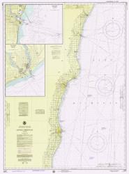 Algoma to Sheboygan 1975 Lake Michigan Harbor Chart Reprint 73