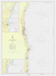 Port Washington to Waukegan 1957 Lake Michigan Harbor Chart Reprint 74