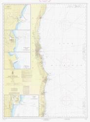Port Washington to Waukegan 1966 Lake Michigan Harbor Chart Reprint 74