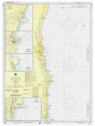 Port Washington to Waukegan 1975 Lake Michigan Harbor Chart Reprint 74
