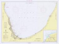 Waukegan to South Haven 1966 Lake Michigan Harbor Chart Reprint 75