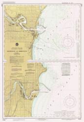 Manitowoc and Sheboygan 1988 Lake Michigan Harbor Chart Reprint 735