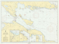 De Tour Passage to Waugoshance Point 1955 Northwest Lake Huron Harbor Chart Reprint 60