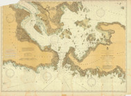 De Tour Passage to Munuscong Lake 1900 Northwest Lake Huron Harbor Chart Reprint 61