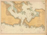 De Tour Passage to Munuscong Lake 1910 Northwest Lake Huron Harbor Chart Reprint 61