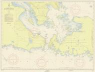 De Tour Passage to Munuscong Lake 1955 Northwest Lake Huron Harbor Chart Reprint 61