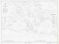De Tour Passage to Munuscong Lake 1976 Northwest Lake Huron Harbor Chart Reprint 61
