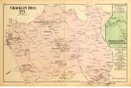 Cracklin District No.1 - Redland, Laytonville, Goshen Mills, Triadelphia, etc., Maryland 1879 Old Map Reprint - Montgomery Co.