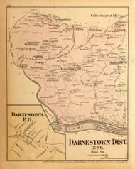 Darnestown District No.6 - Darnestown Village, Seneca, Germantown, etc., Maryland 1879 Old Map Reprint - Montgomery Co.