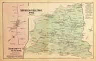 Mechanicsville District No. 8 - Brookville, Olney, Ashton, Brighton, Maryland 1879 Old Map Reprint - Montgomery Co.