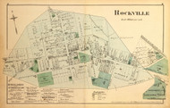 Rockville Village, Maryland 1879 Old Map Reprint - Montgomery Co.