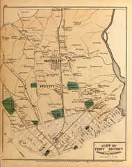 First District (part of) - Montello, Ivy City, Cottage Hill, etc., Maryland 1879 Old Map Reprint - Washington DC (Montgomery Co. MD Atlas)