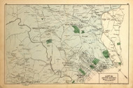Second District (part of) - Brightwood, Rock Creek, Mount Pleasant, Le Droit Park, etc., Maryland 1879 Old Map Reprint - Washington DC (Montgomery MD Atlas)