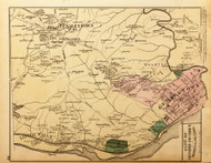 Second District (part of) - Tenallytown, Little Falls, Georgetown, Woodley Park, etc., Maryland 1879 Old Map Reprint - Washington DC (Montgomery MD Atlas)