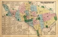 Washington DC - National Capitol Building, Smithsonian, White House, etc., Maryland 1879 Old Map Reprint - Washington DC (Montgomery MD Atlas)