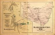 Bladensburgh District No. 2 - Hyattsville & Bladensburgh (inset), College Lawn, Lanham Station, etc., Maryland 1879 Old Map Reprint - Prince George Co. (Montgomery MD Atlas)
