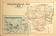 Upper Marlborough District No. 3 - Upper Marlborough Village (inset), Hills Landing, Centreville, etc., Maryland 1879 Old Map Reprint - Prince George Co. (Montgomery MD Atlas)