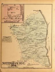 Nottingham District No. 4 - Nottingham Village (inset), North Keys, Whites Landing, Horse Head, etc., Maryland 1879 Old Map Reprint - Prince George Co. (Montgomery MD Atlas)