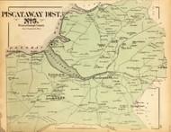Piscataway District No. 5 - Farmington, Accokeek, Piscataway, Spring Grove, etc., Maryland 1879 Old Map Reprint - Prince George Co. (Montgomery MD Atlas)