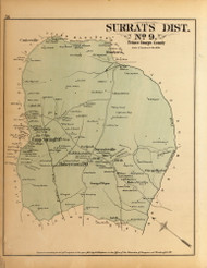 Surrats District No. 9 - Camp Spring, Allentown, Robeystown, Surratsville, etc., Maryland 1879 Old Map Reprint - Prince George Co. (Montgomery MD Atlas)