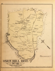 Oxen Hill District No. 12 - Hensons Creek, Fort Foot, Notley Hall, etc., Maryland 1879 Old Map Reprint - Prince George Co. (Montgomery MD Atlas)