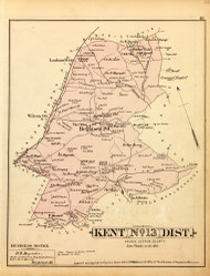 Kent District No. 13 - Brightseat, Suitsville, Buena Vista, Wilson Station, etc., Maryland 1879 Old Map Reprint - Prince George Co. (Montgomery MD Atlas)