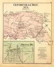 Centreville District No. 1 - Vienna (inset), Bull Run, Chantilla, Clifton, etc., Virginia 1879 Old Map Reprint - Fairfax Co. (Montgomery MD Atlas)