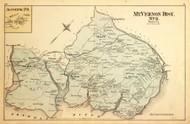 Mt. Vernon District No. 3 - Accotink (inset), Moor, Woolbridge, Mount Vernon, etc., Virginia 1879 Old Map Reprint - Fairfax Co. (Montgomery MD Atlas)