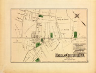 Falls Church Village, Virginia 1879 Old Map Reprint - Fairfax Co. (Montgomery MD Atlas)