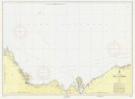 Grand Marais to Big Bay Point 1955 Lake Superior Harbor Chart Reprint 93