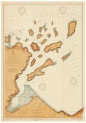 Apostle Islands 1909 Lake Superior Harbor Chart Reprint 961