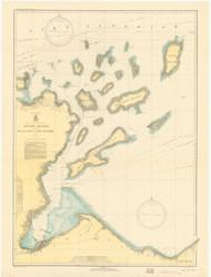 Apostle Islands 1935 Lake Superior Harbor Chart Reprint 961