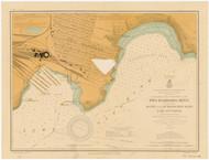 Agate and Burlington Bays 1914 Lake Superior Harbor Chart Reprint 968