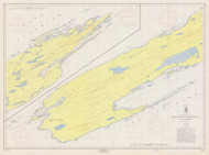 Isle Royale 1957 Lake Superior Harbor Chart Reprint 981