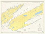 Isle Royale 1967 Lake Superior Harbor Chart Reprint 981