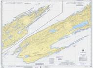 Isle Royale 1976 Lake Superior Harbor Chart Reprint 981