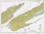 Isle Royale 1983 Lake Superior Harbor Chart Reprint 981