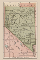 Nevada 1880 Bolitho - Old State Map Reprint