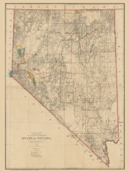 Nevada 1894 GLO - Old State Map Reprint